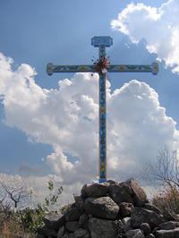 one of three crosses atop a hill above San Miguel de Allende