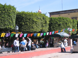 The jardin in San Miguel de Allende three days after the day of the dead