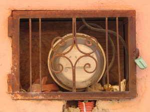 Even the utility meters in San Miguel are beautiful