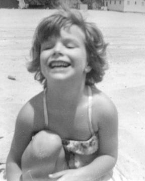 Molly on the beach in Santa Monica, shining