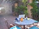 My patio office in San Miguel de Allende