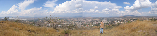 panoramic view from top of hill above San Miguel de Allende