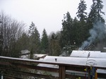 Suquamish rooftops in the snow