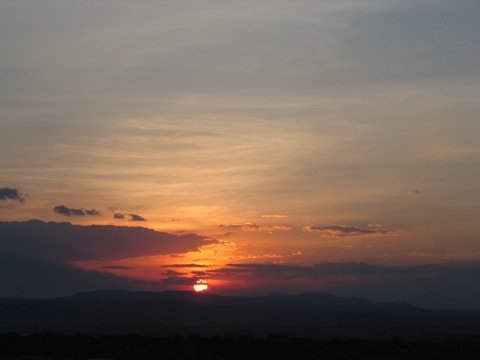 San Miguel Sunset, October 2007